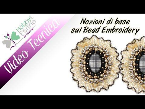 Nozioni di base del Bead Embroidery | TECNICA - HobbyPerline.com - YouTube