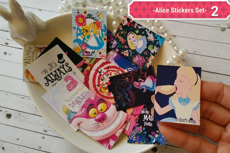 24xAlice in the wonderland Stickers,Alice Planner stickers,Tea party Stickers in Crafts, Scrapbooking & Paper Crafts, Scrapbooking | eBay!