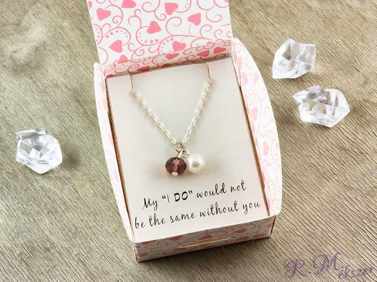 Koszorúslány gyöngy és kristály nyaklánc
