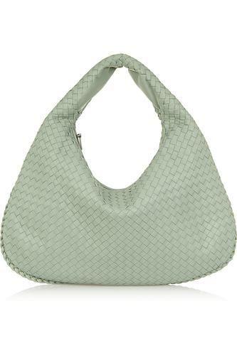 Large Veneta intrecciato leather shoulder bag #accessories #women #covetme #bottegaveneta
