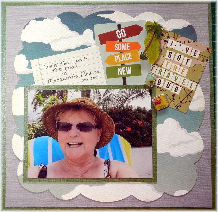 Scrapper's Cove June 2016 Challenge Page. Easiest one Marianne has ever given us I think!! :)