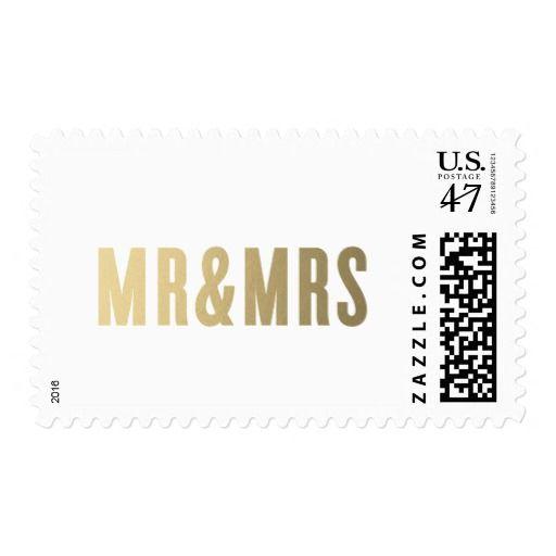 Mr. & Mrs.   Wedding Postage