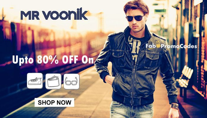 #80% Off  #MrVoonikCoupons & #Offers For Men #T-shirts, #Jeans, #Footwear
