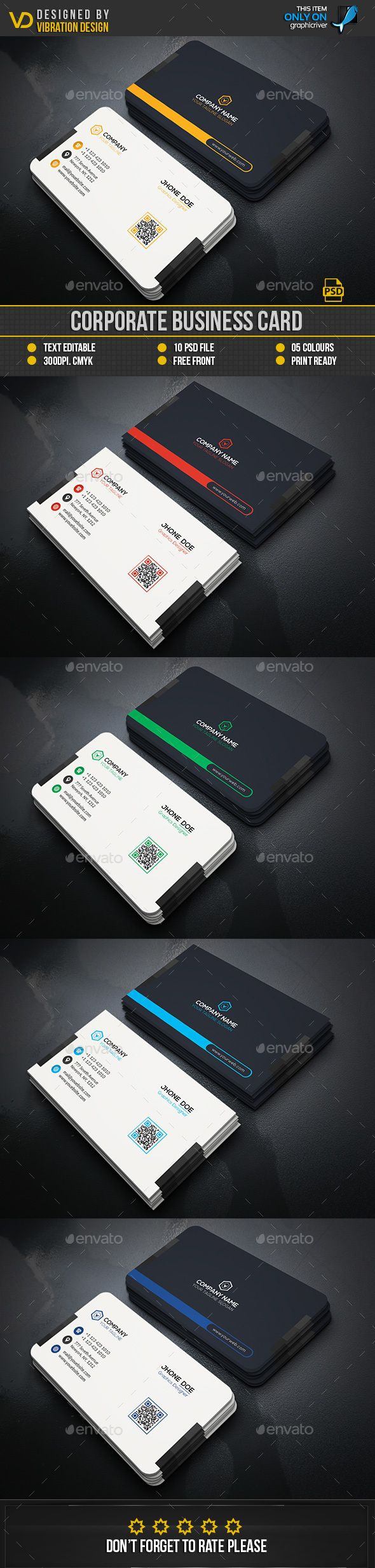 195 best business cards images on pinterest business card design corporate business card photoshop psd simple flyer available here https reheart Image collections