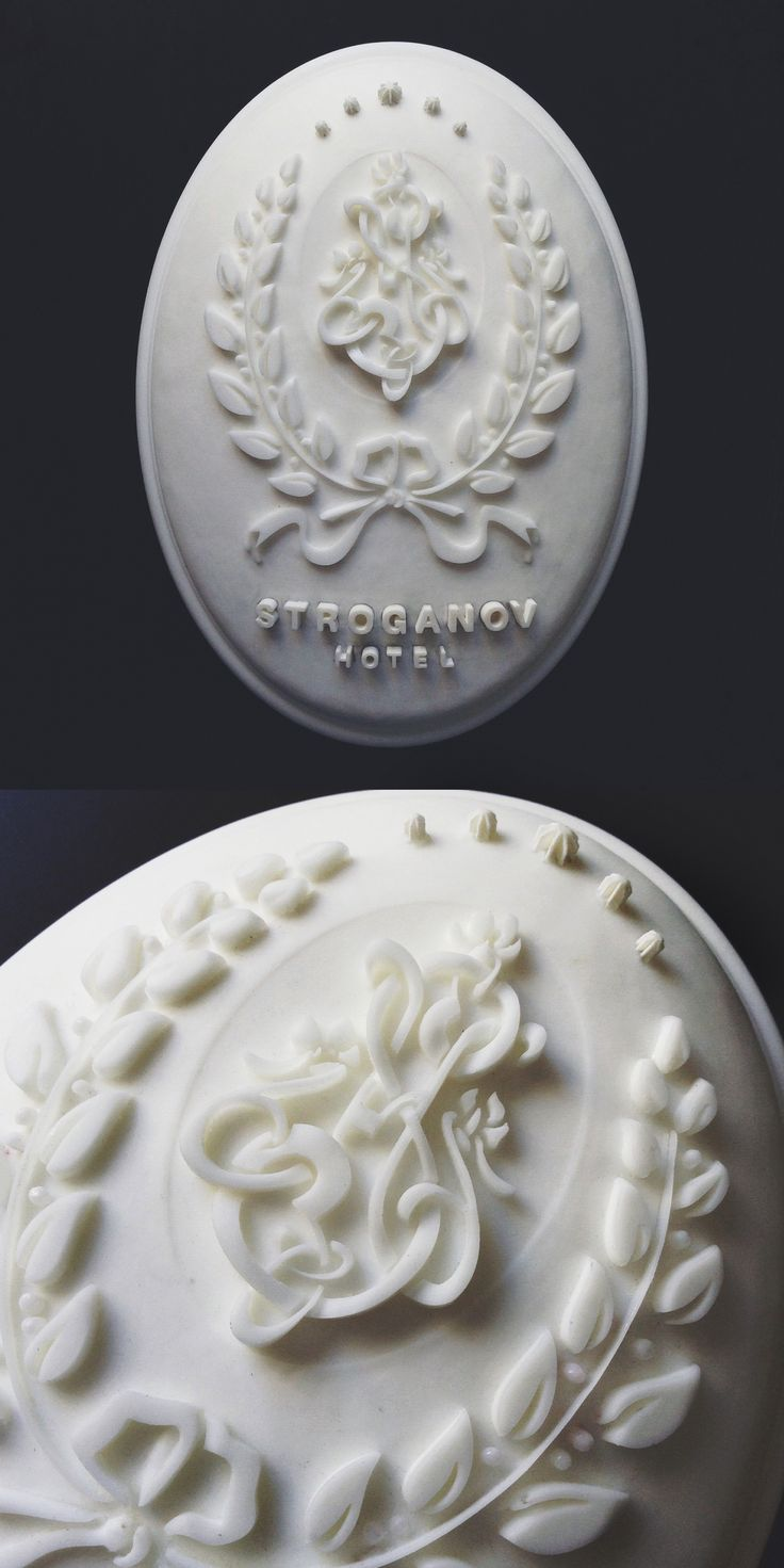 Handmade medallion of the logo is going to be at every door to each suite at the Stroganov Hotel. #logo #design #medallion #StroganovHotel