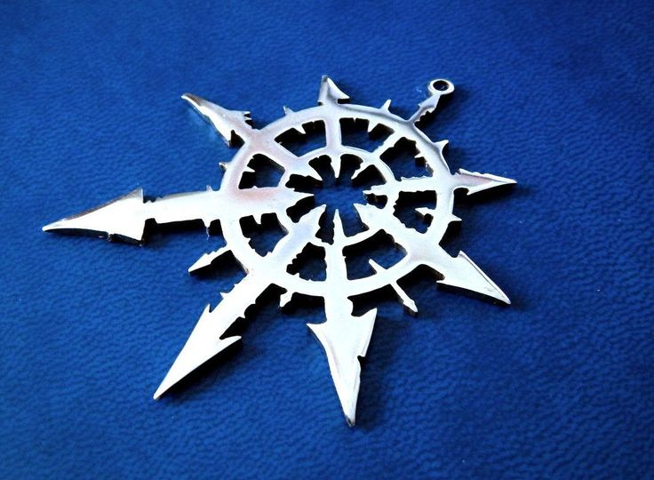 Stainless steel Chaos Star from Warhammer 40k. Necklace (pendant) or keychain. Handmade item.  Chaos star pendant / Warhammer Chaos / Chaos star / Warhammer 40k