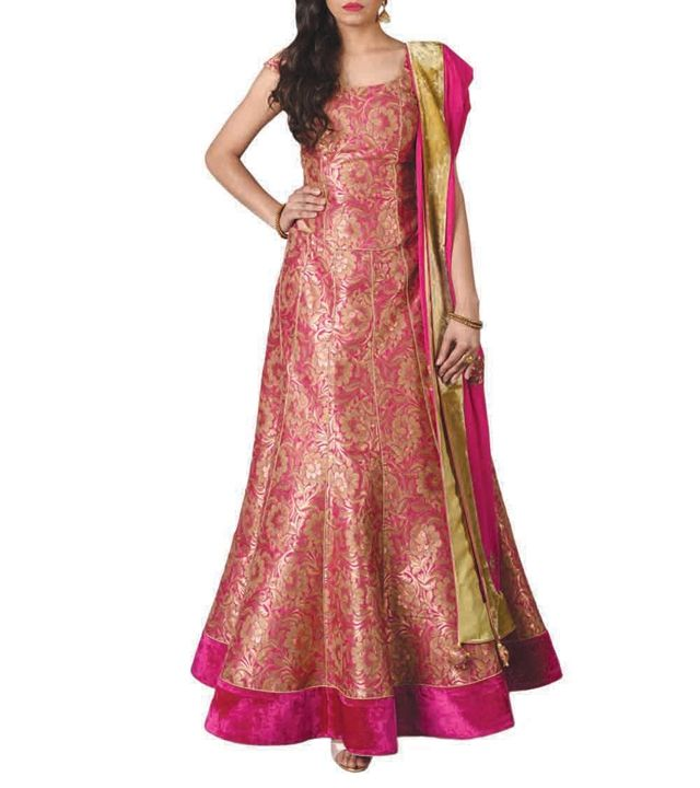 Image result for red gold brocade indian gown