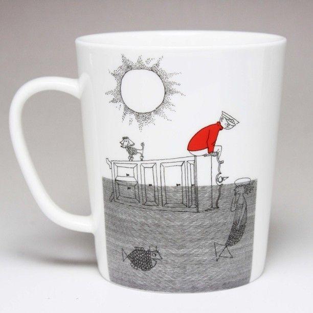 スティグリンドベリのびしょぬれ靴のダニエル挿入絵のイラストが入ったマグカップ  #マグカップ #スティグ #リンドベリ