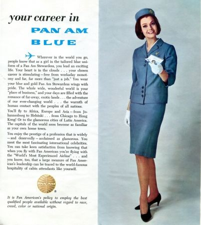 "1967 - Pan American World Airways ""Win Your Wings"" Flight Attendant Recruiting Advertisement - Pan American Airways History and Memorabilia"
