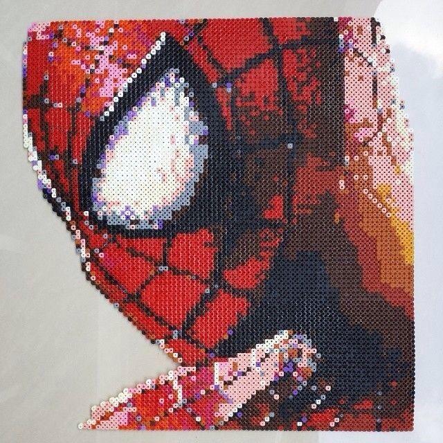 Cross stitich spiderman