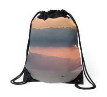 Sunset at Sea Drawstring Bag