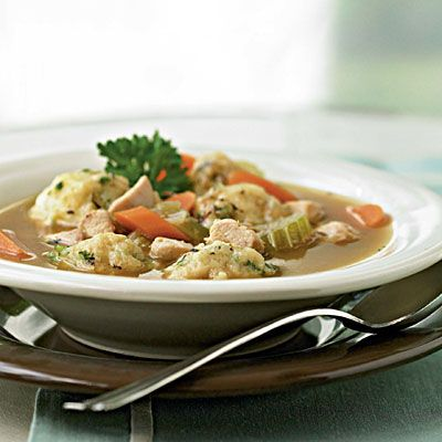 Healthy Recipes for Two: Herbed Chicken and Dumplings < Healthy Recipes for Two - Cooking Light
