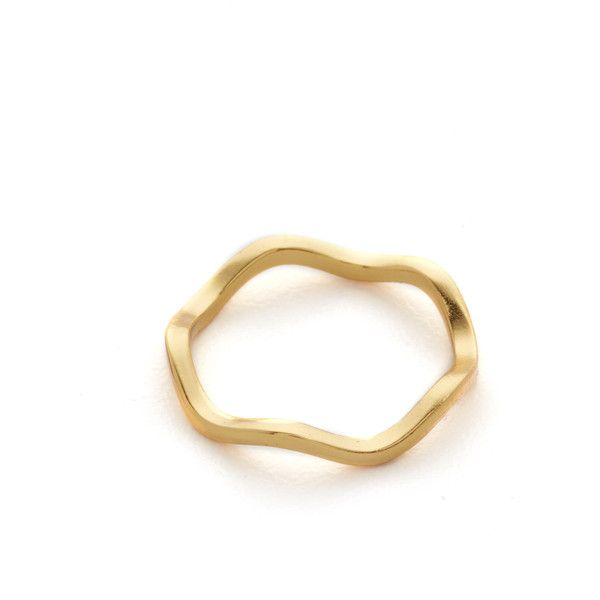Gorjana Marni Mid Finger Ring ($25) ❤ liked on Polyvore featuring jewelry, rings, gold, midi rings jewelry, mid-finger rings, midi rings, gorjana and top finger rings