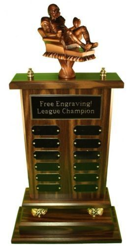 23-12-YEAR-ARMCHAIR-QB-FANTASY-FOOTBALL-TROPHY-FREE-ENGRAVING-SHIPS-IN-1-DAY