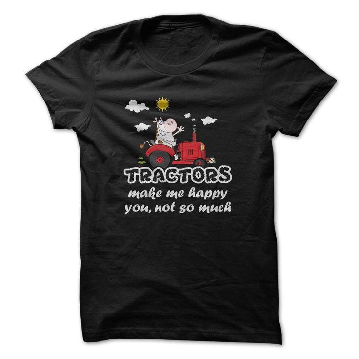 Tracktor driver t-shirt - Tractors make me happy