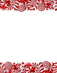 Peppermint Glitter Christmas Letterhead, 8.5x11, 40/PK, 12 Pks/Case