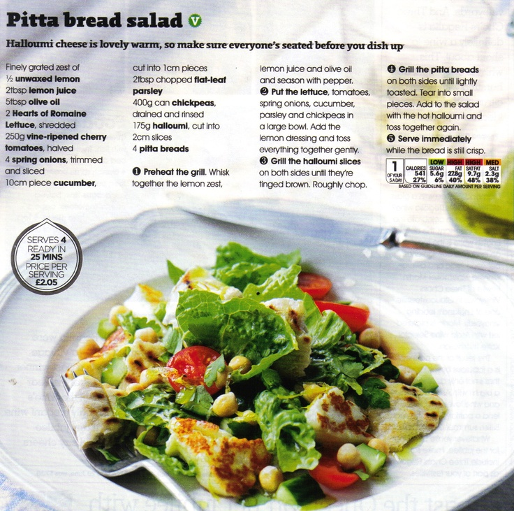 Pitta Bread Salad (magazine scan)