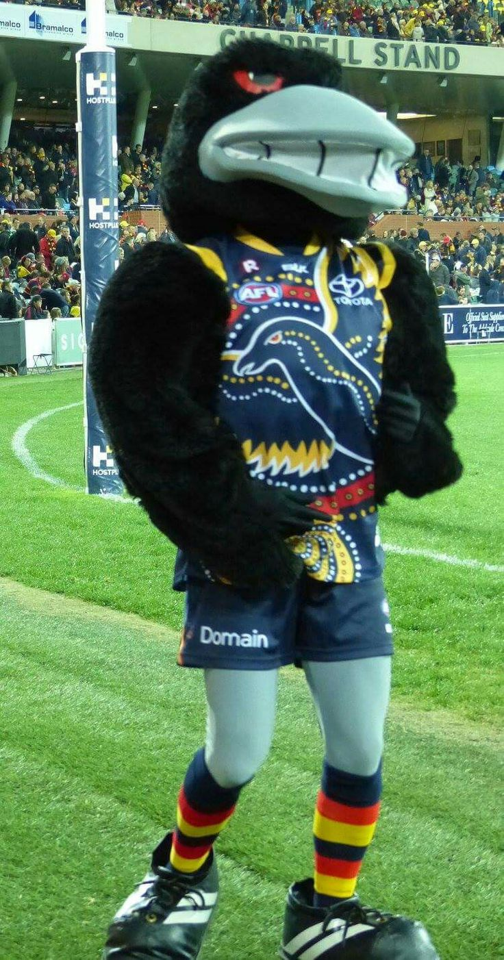 The Crows mascot.
