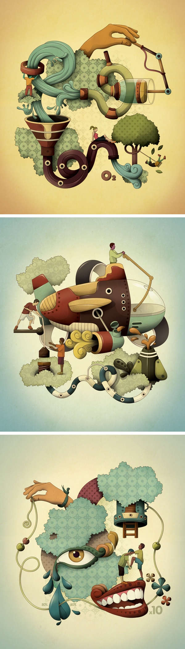 Illustration portfolio by Leandro Lima