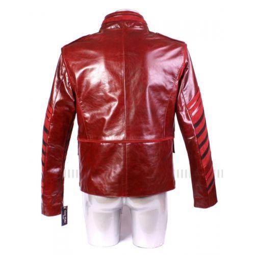 Яркие и очень красивые красные женские куртки из натуральной кожи