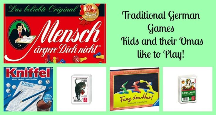 I grew up playing Traditional German Games with my family....Mensch Ärgere Dich Nicht! Quartett, Fang den Hut and more. How many of these do you remember?