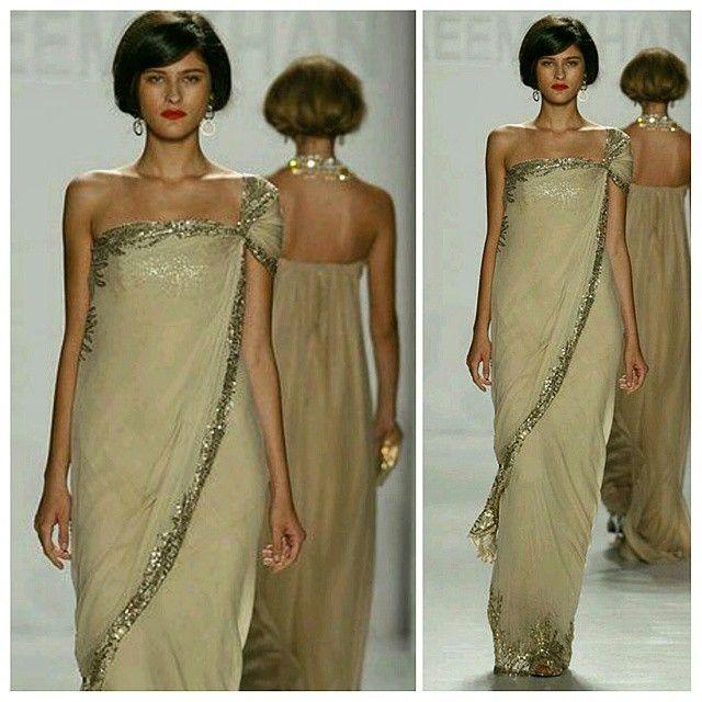 Designer Sunday - Naeem Khan #designer#NaeemKhan#sareeinspiration#sleeves#sareedrape#saree#stylediary