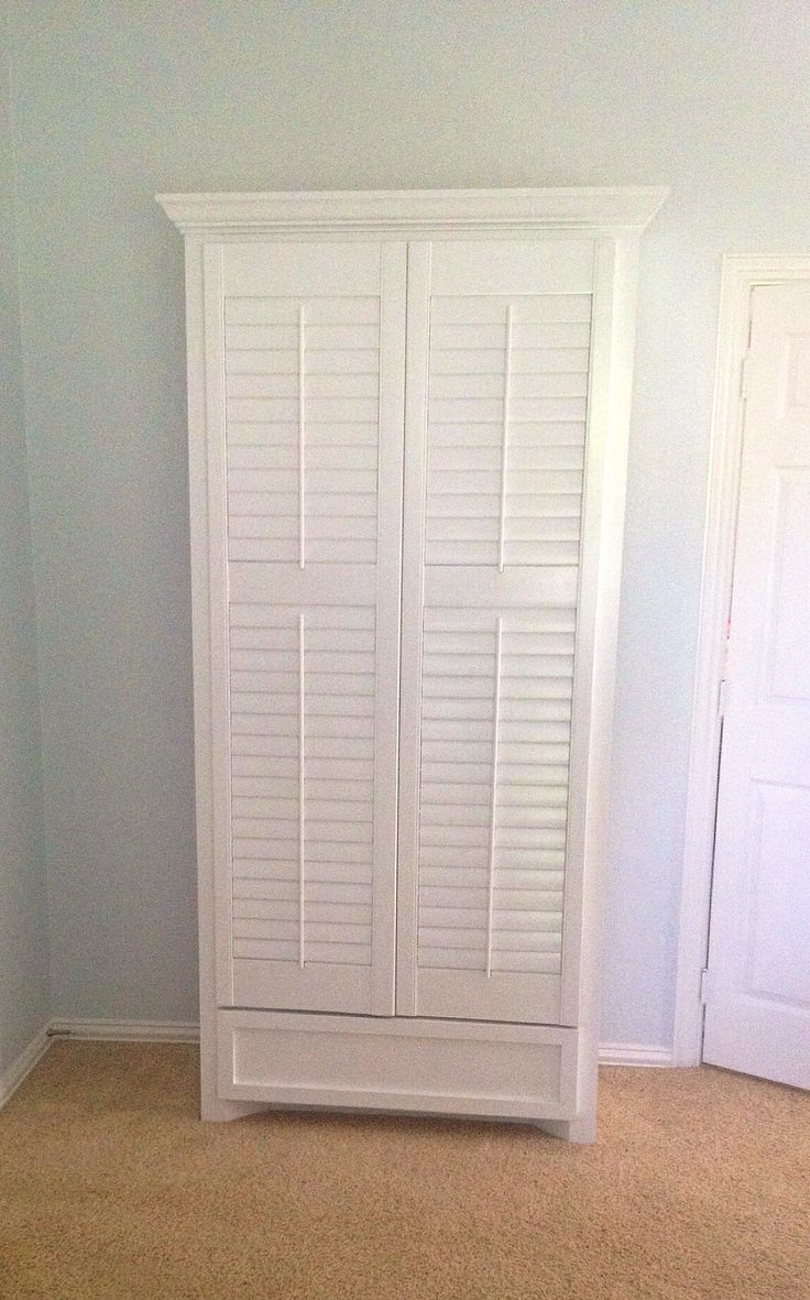 Best Shutter Door Armoire With Lower Drawer Tall Cabinet 640 x 480