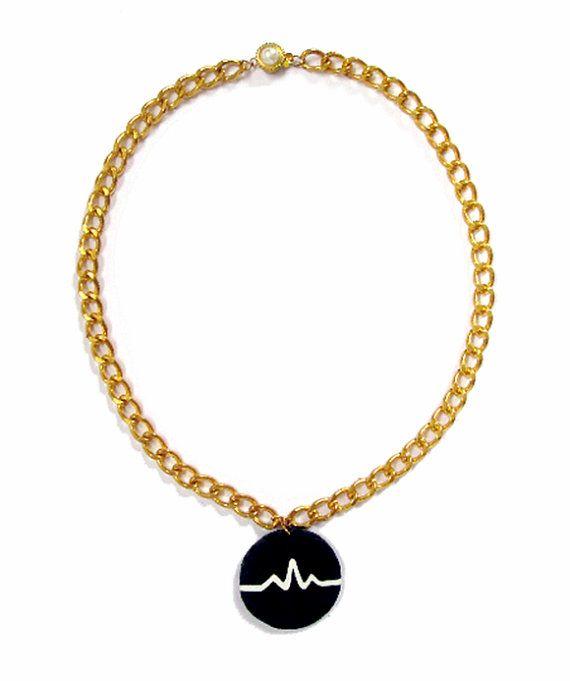 Arctic Monkeys Heartbeat Chain Necklace by MerunaArt on Etsy #arctic #monkeys