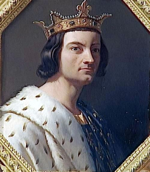 Philippe IV le Bel (1268-1314) - Philip IV called the Fair was King of France from 1285 until his death. A member of the House of Capet, Philip was born at the Palace of Fontainebleau to King Louis IX's eldest son Philip the Bold and Isabella of Aragon. Married to Joan of Navarre (Jeanne de Navarre). Three of his sons would become kings of France (Louis X, Philippe V, Charles IV), and his daughter Isabella, as consort of Edward II, was queen of England.