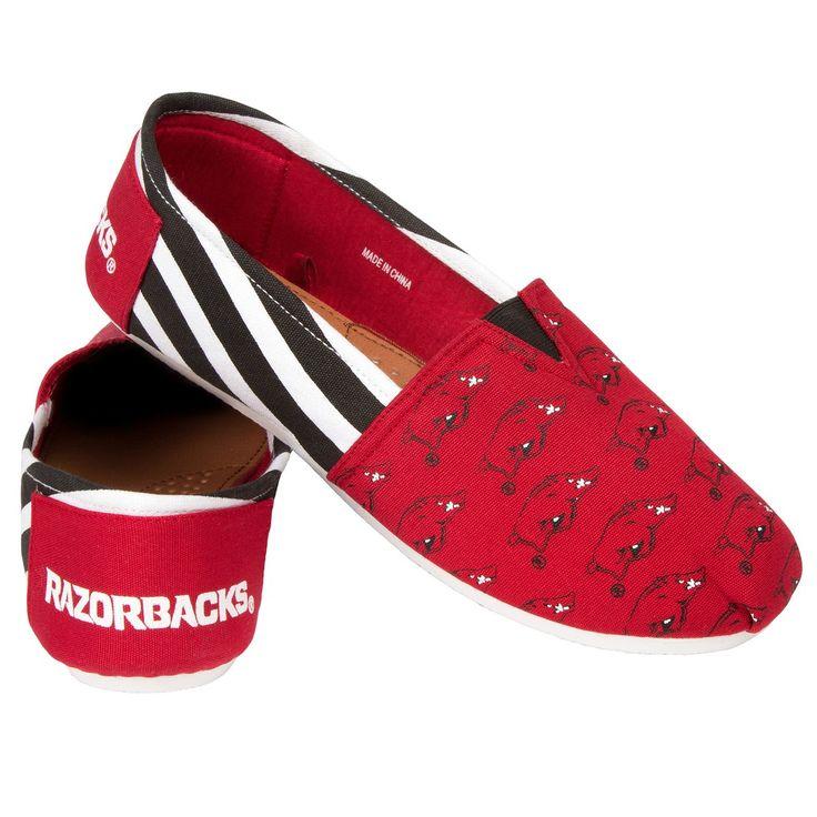 Arkansas Razorbacks Stripe Canvas Shoes