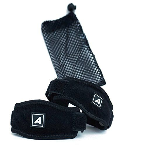 Tennis Elbow Brace Strap (Two Pack) With FREE Carry Bag - Adjustable Elbow Support With Gel Compression Pad - Forearm Brace Suitable for Golfers Elbow Tennis Elbow and Tendonitis >>> Check out this great product.
