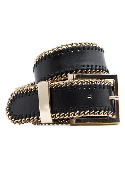 MANGO - Leather belt