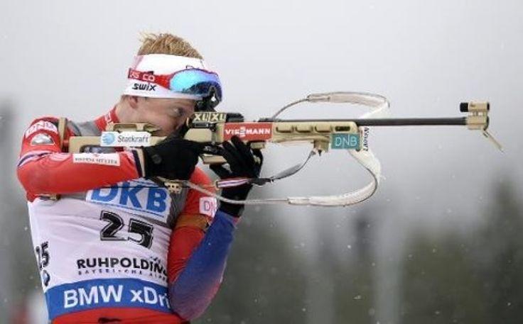 Le Norvégien Johannes Thingnes Boe lors du sprint, épreuve allemande ...