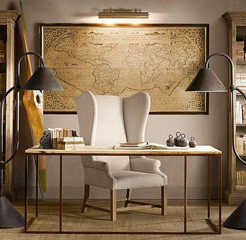 Buy Reclaimed Wood and Metal Office Desk