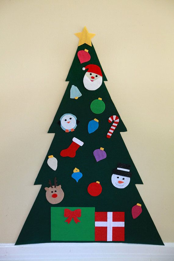 Felt Christmas Tree Felt Wall Tree Kid's by ForYourMunchkin