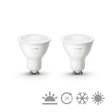 Set becuri LED Philips Hue 5.5W GU10 White Ambiance