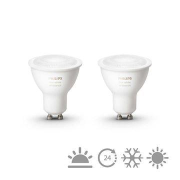 Set becuri LED Philips Hue 5.5W GU10 White Ambiance