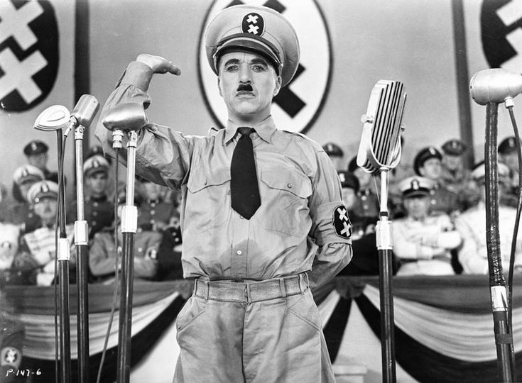 The Great Dictator, 1940. Charles Chaplin.