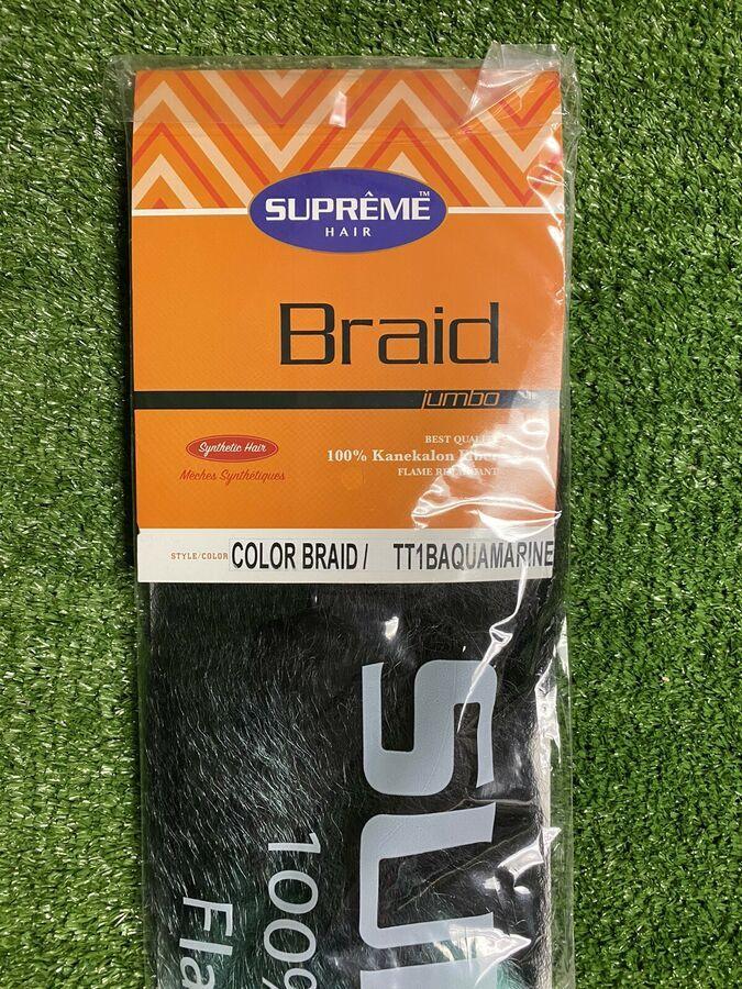 Lot Of 4 Supreme Hair Jumbo Braid 100 Kanekalon Fiber Synthetic Tt1baquamarine Ad Affiliate Jumbo Braid Hair Jumbo Braids Aqua Ombre Braids