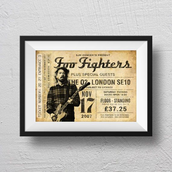 Foo Fighters Poster concert poster Foo Fighters concert