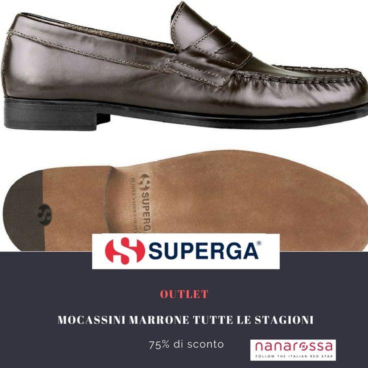 sezione OUTLET di #nanarossa  Sconto del -75 % sui mocassini SUPERGA, da un'occhiata: https://www.nanarossa.com/it/scarpe/47225-mocassini-superga-434-tfglm-uomo-marrone-tutte-le-stagioni.html