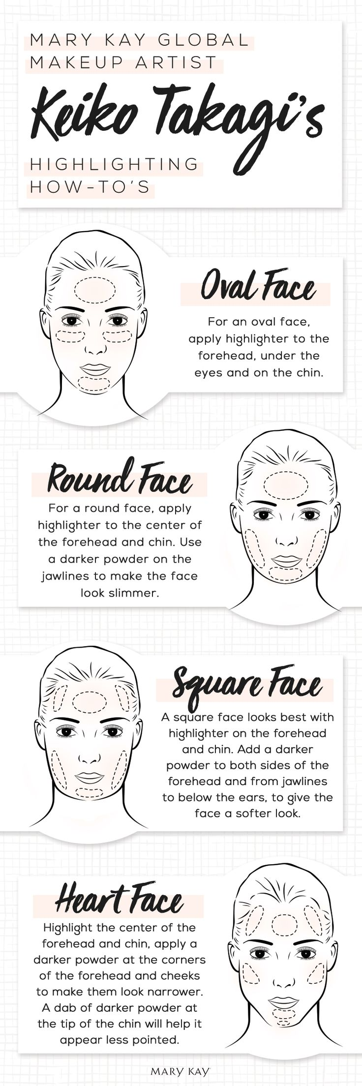 Put your best heart, square, round or oval face forward by highlighting your natural features! | Mary Kay