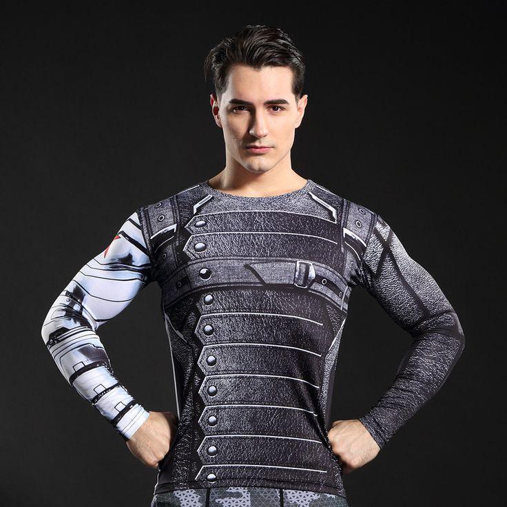 GYMGALA Captain America Tee 3D Bedrukte T-shirts Mannen iron man cosplay kostuums Fitness Compressie Kleding MannelijkeTops #Affiliate