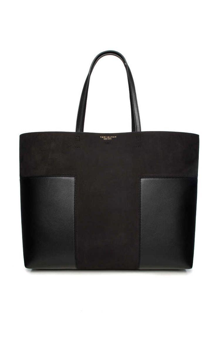 Handväska Block-T Large Tote Suede BLACK - Tory Burch - Designers - Raglady