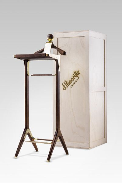 Valet Stand Is Shipped Fully Assembled. Custom Made Sturdy Wood Crate.