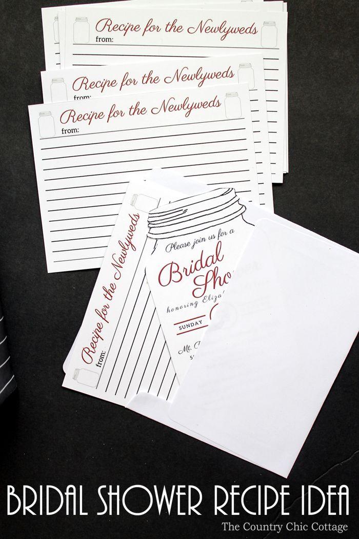 Bridal Shower Recipe Idea 44 best Bridal