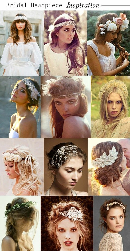 12 Haute Hippie Headpieces for the Bohemian Bride (As Seen on Pinterest): Save the Date: Weddings: glamour.com