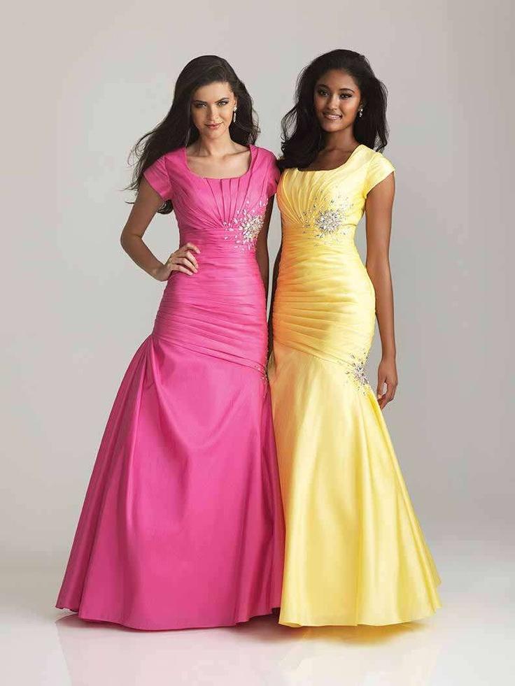 Mejores 82 imágenes de Modest Prom Dresses en Pinterest | Vestidos ...