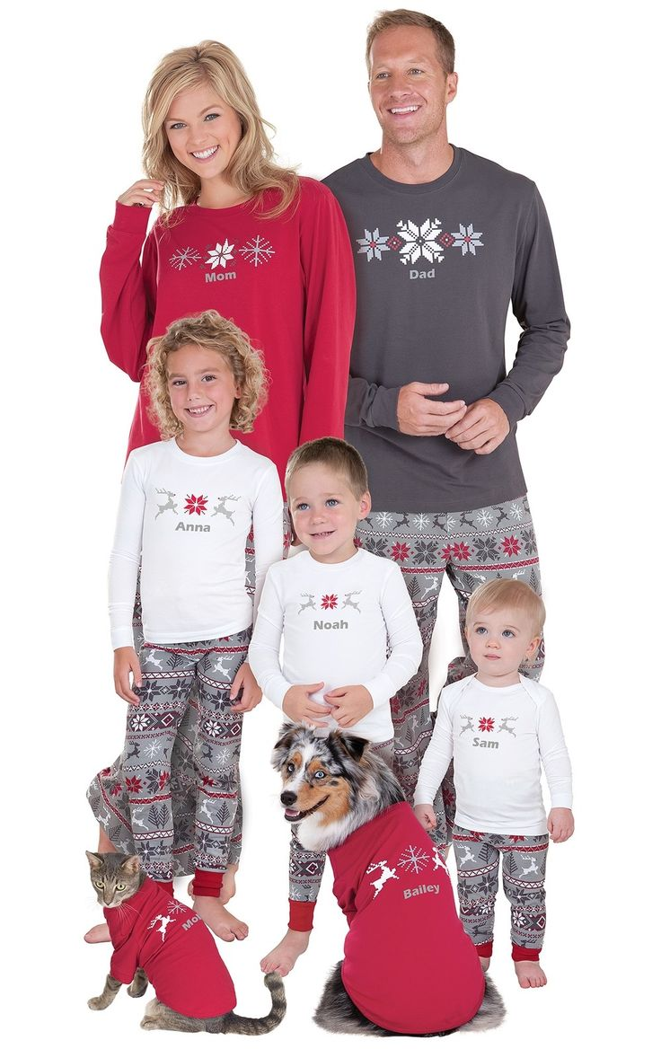 Nordic Matching Family Pajamas Matching family christmas
