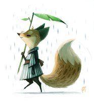 Tag 516. Quickie Fox Sketch und Tablet Update :) von Cryptid-Creations
